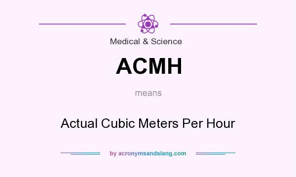 What does ACMH mean? It stands for Actual Cubic Meters Per Hour