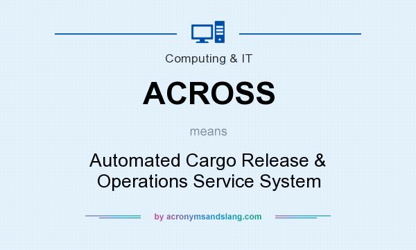 What does ACROSS mean? It stands for Automated Cargo Release & Operations Service System