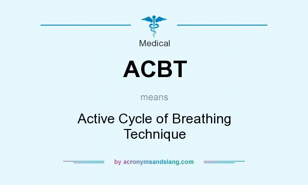 What does ACBT mean? It stands for Active Cycle of Breathing Technique