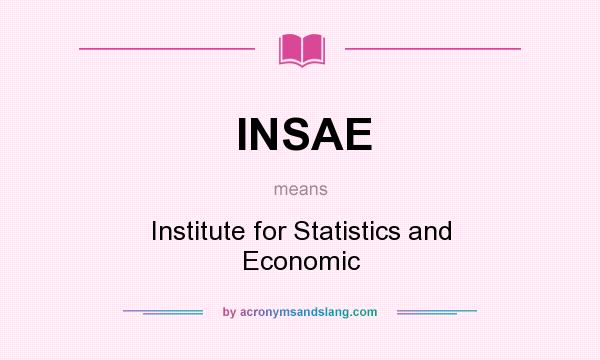 What does INSAE mean? It stands for Institute for Statistics and Economic