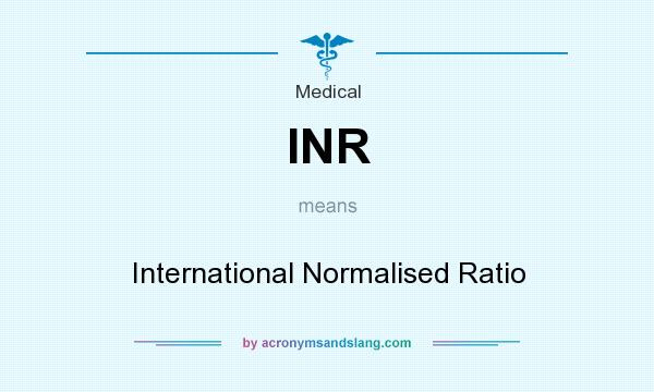 Inr International Normalised Ratio In