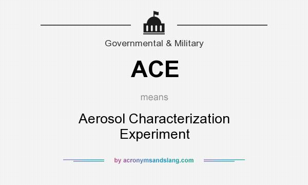 What does ACE mean? It stands for Aerosol Characterization Experiment
