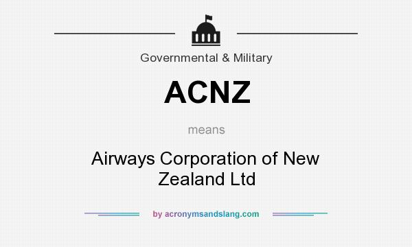 What does ACNZ mean? It stands for Airways Corporation of New Zealand Ltd