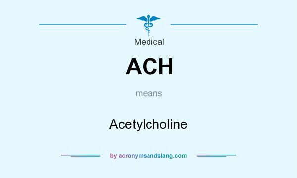 What does ACH mean? It stands for Acetylcholine