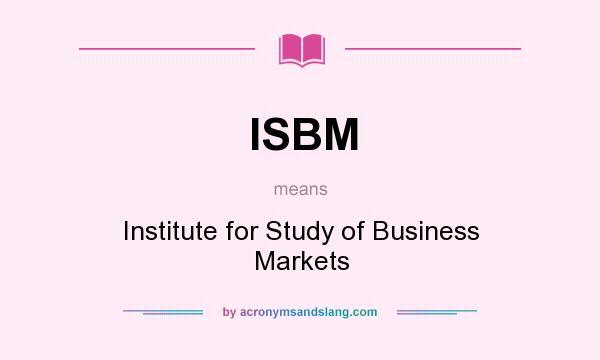 international business isbm answers