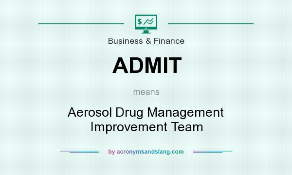 What does ADMIT mean? It stands for Aerosol Drug Management Improvement Team