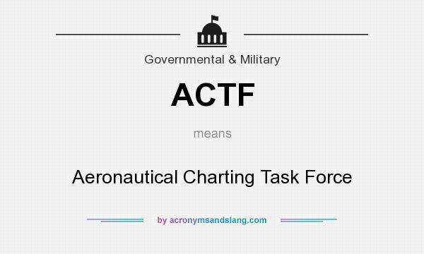 What does ACTF mean? It stands for Aeronautical Charting Task Force