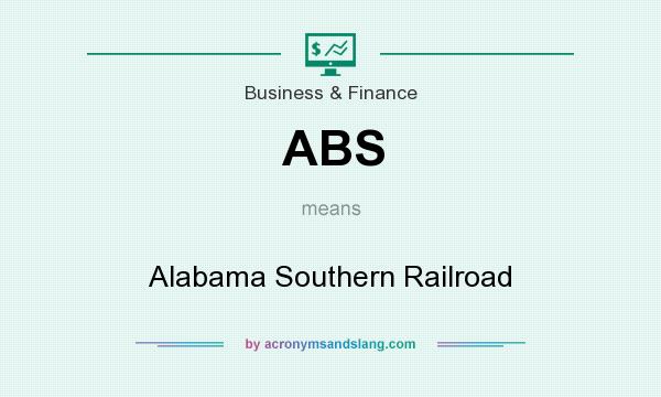 What does ABS mean? It stands for Alabama Southern Railroad