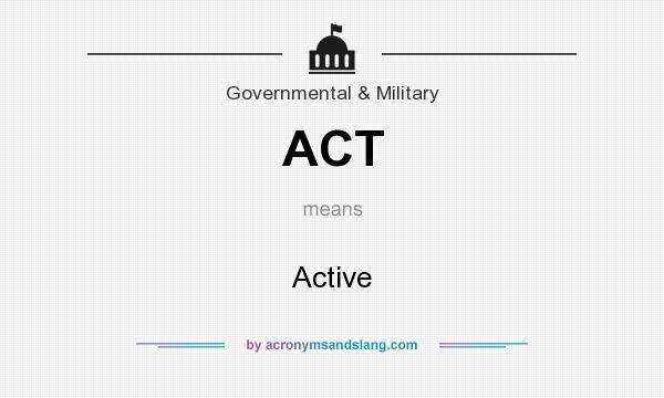 What does ACT mean? It stands for Active