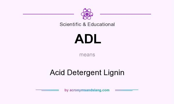 What does ADL mean? It stands for Acid Detergent Lignin