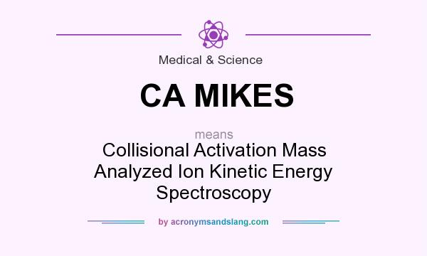 What does CA MIKES mean? It stands for Collisional Activation Mass Analyzed Ion Kinetic Energy Spectroscopy