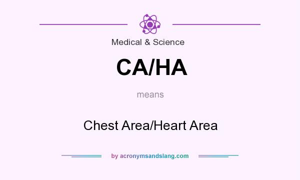What does CA/HA mean? It stands for Chest Area/Heart Area