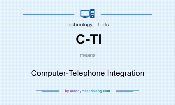 What does C-TI mean? It stands for Computer-Telephone Integration