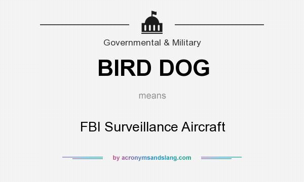 What does BIRD DOG mean? It stands for FBI Surveillance Aircraft