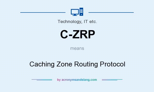 What does C-ZRP mean? It stands for Caching Zone Routing Protocol