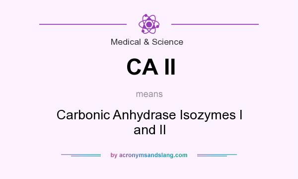 What does CA II mean? It stands for Carbonic Anhydrase Isozymes I and II