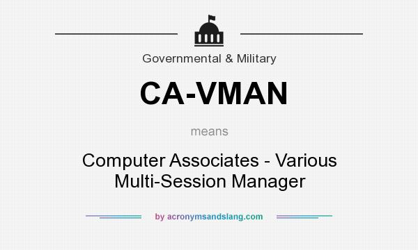 What does CA-VMAN mean? It stands for Computer Associates - Various Multi-Session Manager