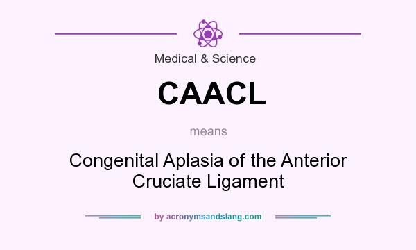 What does CAACL mean? It stands for Congenital Aplasia of the Anterior Cruciate Ligament