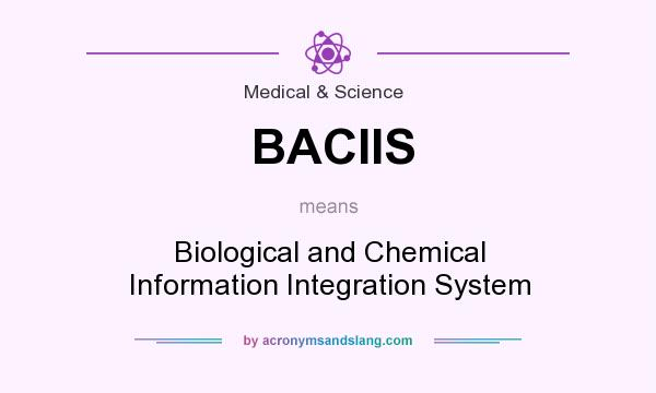 What does BACIIS mean? It stands for Biological and Chemical Information Integration System
