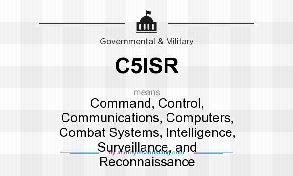 What does C5ISR mean? It stands for Command, Control, Communications, Computers, Combat Systems, Intelligence, Surveillance, and Reconnaissance
