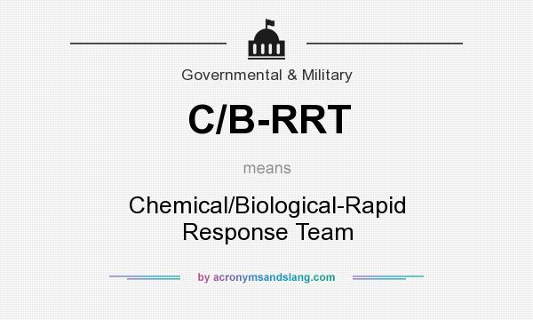 What does C/B-RRT mean? It stands for Chemical/Biological-Rapid Response Team