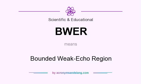 What does BWER mean? It stands for Bounded Weak-Echo Region