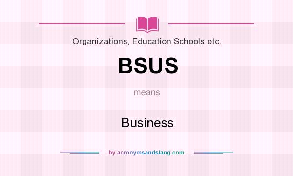 What does BSUS mean? It stands for Business