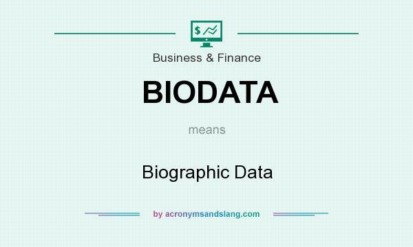 what is bio data