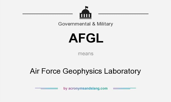 What does AFGL mean? It stands for Air Force Geophysics Laboratory