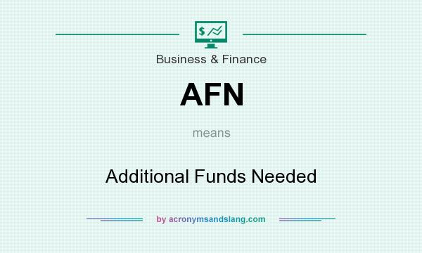 What does AFN mean? It stands for Additional Funds Needed