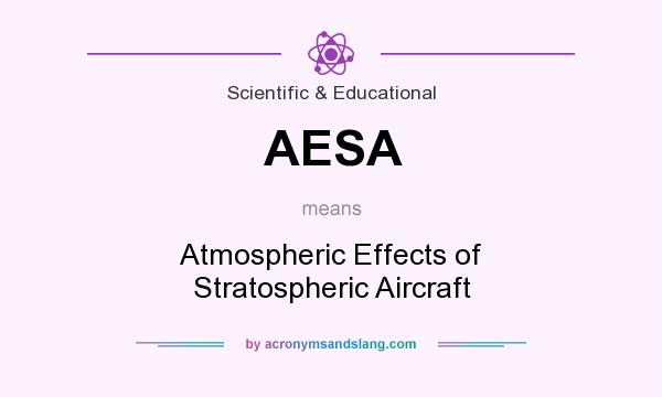 What does AESA mean? It stands for Atmospheric Effects of Stratospheric Aircraft