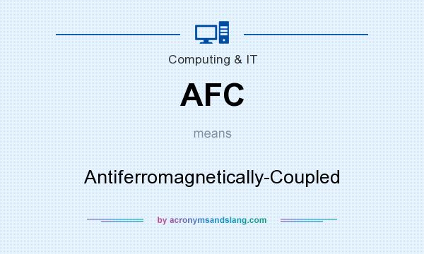 What does AFC mean? It stands for Antiferromagnetically-Coupled