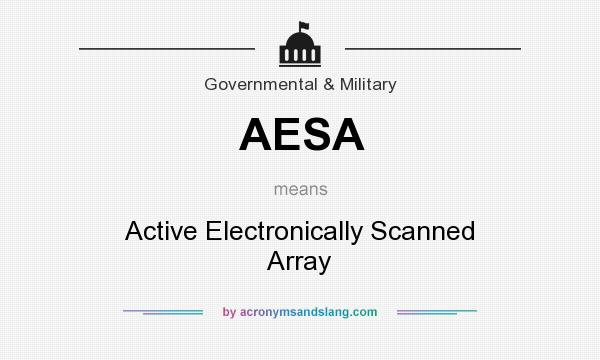 What does AESA mean? It stands for Active Electronically Scanned Array
