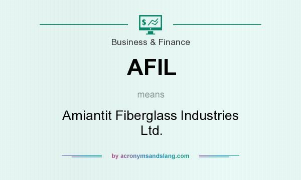 AFIL - Amiantit Fiberglass Industries Ltd  in Business