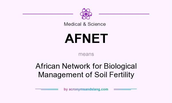 What does AFNET mean? It stands for African Network for Biological Management of Soil Fertility