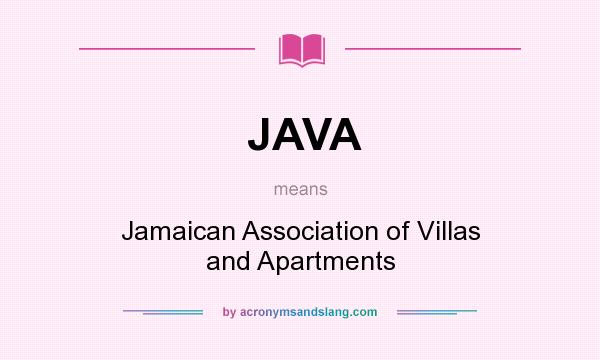 Java Jamaican Association Of Villas And Apartments In Undefined By Acronymsandslang