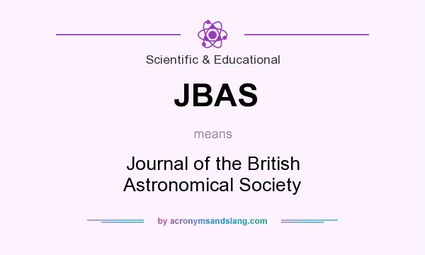 What does JBAS mean? It stands for Journal of the British Astronomical Society