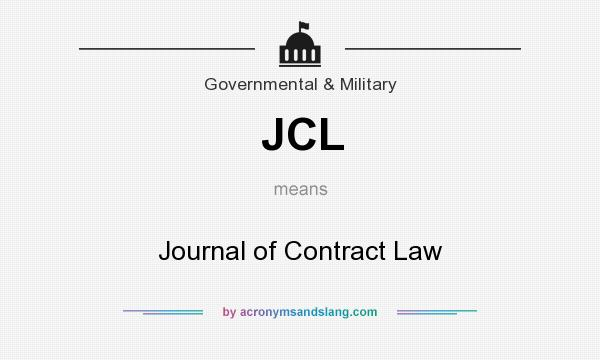 What does JCL mean? It stands for Journal of Contract Law