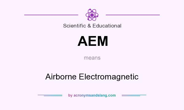 What does AEM mean? It stands for Airborne Electromagnetic
