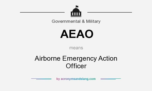 What does AEAO mean? It stands for Airborne Emergency Action Officer