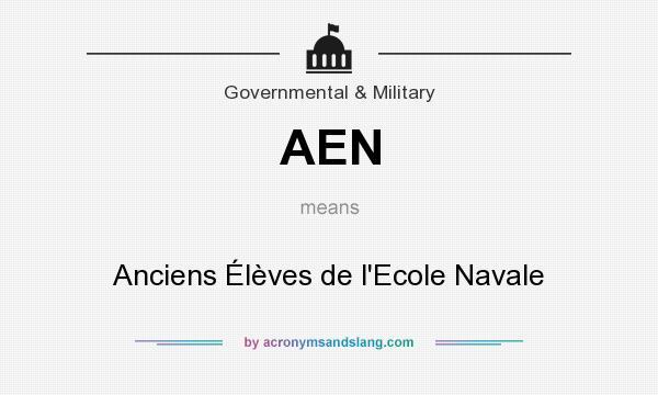 What does AEN mean? It stands for Anciens Élèves de l`Ecole Navale