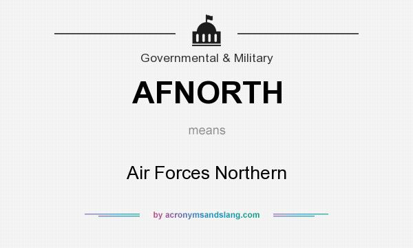 What does AFNORTH mean? It stands for Air Forces Northern