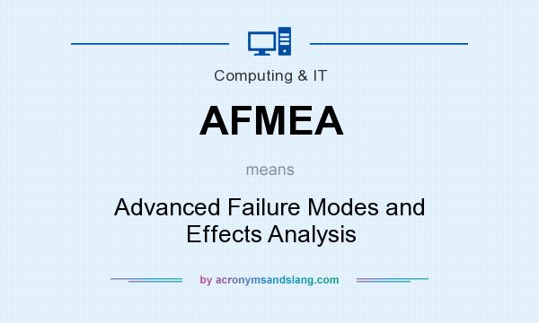 What does AFMEA mean? It stands for Advanced Failure Modes and Effects Analysis