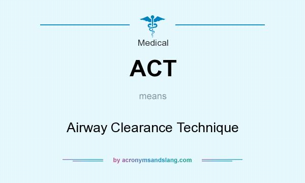 What does ACT mean? It stands for Airway Clearance Technique