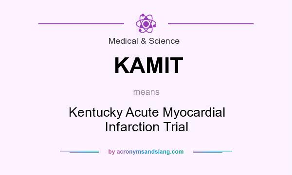What does KAMIT mean? It stands for Kentucky Acute Myocardial Infarction Trial