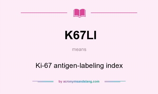 What does K67LI mean? It stands for Ki-67 antigen-labeling index