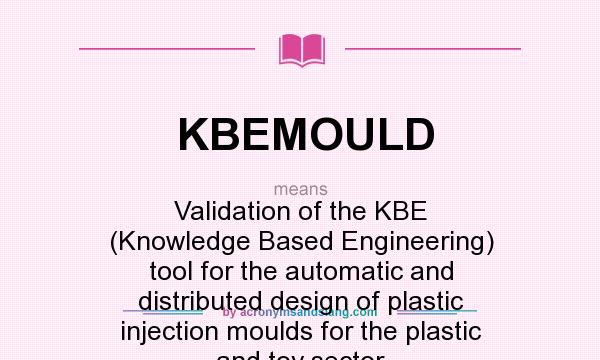 What does KBEMOULD mean? It stands for Validation of the KBE (Knowledge Based Engineering) tool for the automatic and distributed design of plastic injection moulds for the plastic and toy sector