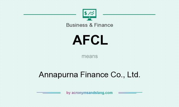 What does AFCL mean? It stands for Annapurna Finance Co., Ltd.