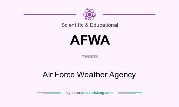 What does AFWA mean? It stands for Air Force Weather Agency
