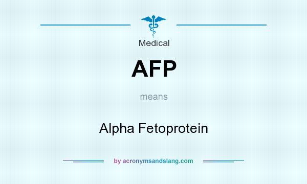What does AFP mean? It stands for Alpha Fetoprotein